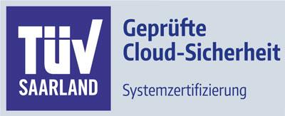 Cloud security certified by TÜV (the German Technical Inspection Association)